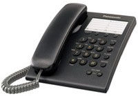 Panasonic Black Corded Phone - KX-TS550B