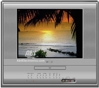 Toshiba 14  Silver Tube TV With Built-In DVD Player