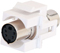 Cables To Go White Snap-In S-Video F/F Keystone Module