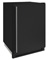 "U-Line 1000 Series 24"" Black Solid Convertible Freezer"