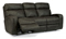 Flexsteel Tomkins Fabric Power Reclining Sofa With Power Headrest