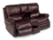 Flexsteel Miles Leather Power Reclining Loveseat With Console