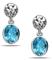 Charles Krypell Dylani Blue Topaz Sterling Silver Earrings