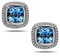 Charles Krypell Ellah Blue Topaz And White Diamond Sterling Silver Earrings