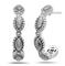 Charles Krypell Firefly Sterling Silver Hoop Earrings