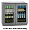 "U-Line 36"" Panel Ready Integrated Double Glass Door Compact Refrigerator"