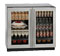 "U-Line 36"" Stainless Steel Double Glass Door Compact Refrigerator"