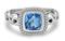 Charles Krypell Ellah Blue Topaz Sterling Silver Ring