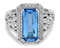 Charles Krypell Eve Blue Topaz Sterling Silver Ring