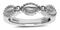 Charles Krypell Firefly Sterling Silver White Diamond Single Band Ring