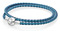 PANDORA Mixed Blue Woven Double-Leather Charm Bracelet