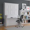 Leto Muro Allegra Series White Full Wall Bed With Desk