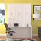 Leto Muro Allegra Series White Queen Wall Bed With Desk