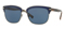 Burberry Square Brushed Gunmetal Matte Blue Mens Sunglasses