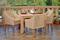 Parrot Island Bermuda Canvas 5 Piece Arm Chair Dining Set