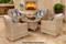 Parrot Island Bermuda Linen Canvas 5 Piece Chat Set