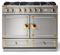 "La Cornue 43"" CornuFe 110 Stainless Steel With Polished Brass Dual Fuel Range"