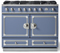"La Cornue 43"" CornuFe 110 Provence Blue With Satin Chrome Dual Fuel Range"