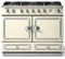 "La Cornue 43"" CornuFe 110 Ivory White With Satin Chrome Dual Fuel Range"