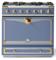 "La Cornue 36"" CornuFe 90 Provence Blue With Polished Brass Dual Fuel Range"