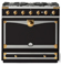 "La Cornue 36"" CornuFe 90 Matte Black With Polished Brass Dual Fuel Range"