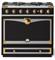 "La Cornue 36"" CornuFe 90 Matte Black With Polished Brass Dual Fuel Range"