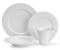 Cuisinart 16 Piece Chailles Collection White Porcelain Dinnerware Set