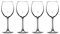 Cuisinart Stars The Limit Collection 4-Piece Red Wine Glass Set