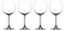 Cuisinart Stars The Limit Collection 4-Piece Burgundy Wine Glass Set