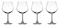 Cuisinart Elite Vivere Collection 4-Piece Burgundy Wine Glass Set