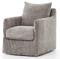Four Hands Stonewash Heavy Jute Banks Swivel Chair