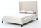 Four Hands Snow Cream Metro Jefferson Upholstered Queen Bed