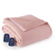 Shavel Micro Flannel Reverse To Sherpa Queen Frosted Rose Electric Heated Blanket