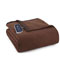 Shavel Micro Flannel Twin Chocolate Electric Heated Comforter Blanket