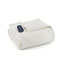 Shavel Micro Flannel Twin Ivory Electric Heated Comforter Blanket