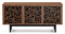BDI Elements Ricochet Natural Walnut Media with Triple-Width Storage Cabinet