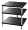 Solidsteel Black HJ 3 Shelf Audio Rack