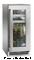 """Perlick Signature Series 15"""" Wood Overlay Glass Door Right Hinged Indoor Beverage Center"""