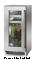 """Perlick Signature Series 15"""" Wood Overlay Glass Door Left Hinged Indoor Beverage Center"""