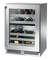 "Perlick Signature Series 24"" Stainless Steel Glass Door Right Hinged Indoor Dual-Zone Wine Reserve"