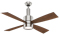 "Casablanca 54"" Bullet Brushed Nickel With 4 Burnt Walnut/Walnut Reversible Blades Ceiling Fan"