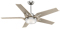 "Casablanca 56"" Correne Brushed Nickel With Champagne Blades Ceiling Fan"