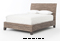 Four Hands Grey Wash Lanai Banana Leaf Queen Bed
