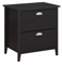 kathy ireland Office By Bush Furniture Black Suede Oak Connecticut Lateral File - KI40104-03