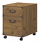 kathy ireland Office By Bush Furniture Vintage Golden Pine Ironworks 2 Drawer Mobile Pedestal