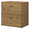 kathy ireland Office By Bush Furniture Vintage Golden Pine Ironworks Lateral File Cabinet