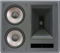 Klipsch Galaxy Black 2-Way THX Ultra2 In-Wall Right LCR Loudspeaker