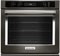 "KitchenAid 27"" Black Stainless Steel Single Wall Oven"