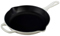 "Le Creuset 10.25"" White Iron Handle Skillet"