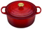 Le Creuset 7.25 Quart Cerise Round Dutch Oven with Gold Knob